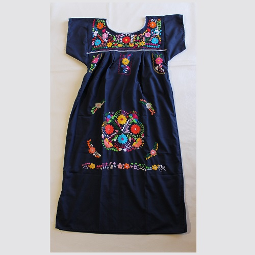 Robe Mexicaine - Taille S - Bleu Marine