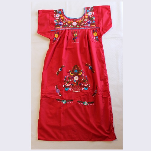 Robe Mexicaine - Taille S - Rouge