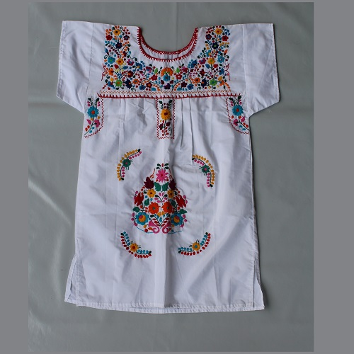 Mini Robe Mexicaine - Taille M - Blanche