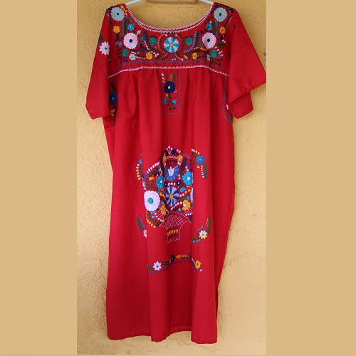 Robe Mexicaine - Taille XXXL - Rouge