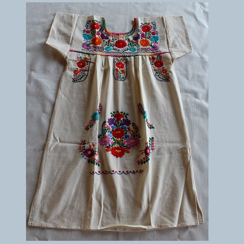 Robe Mexicaine - Taille S - Crème III