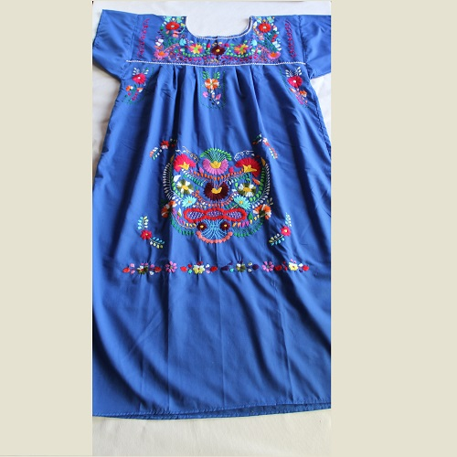 Robe Mexicaine - Taille XL - Bleue II