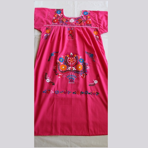Robe Mexicaine - Taille XL - Rose II