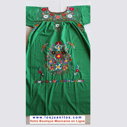 Robe Mexicaine - Taille XL - Verte