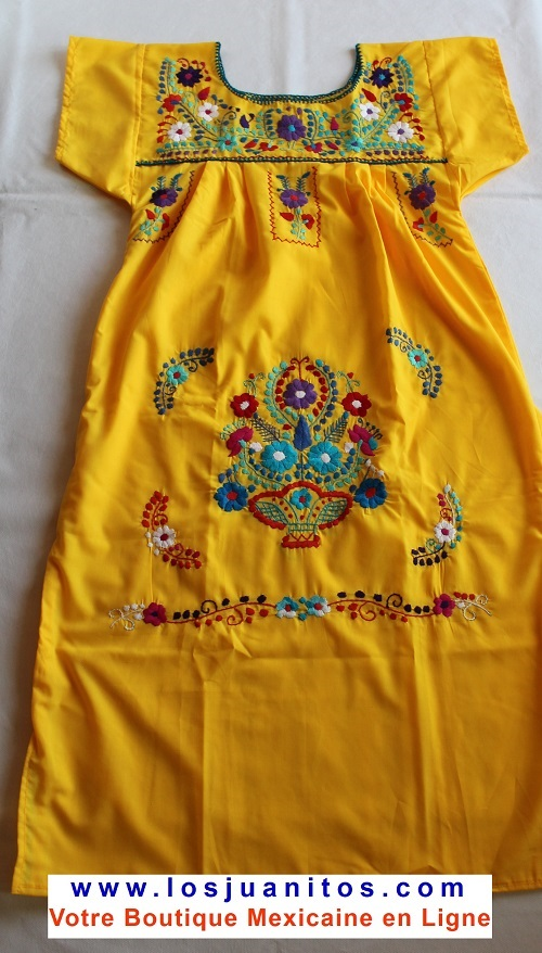 Robe Mexicaine - Taille S - Jaune II
