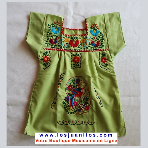 Robe Mexicaine - Taille 4 ans - Verte