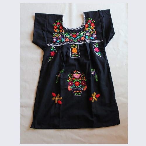 Robe Mexicaine - Taille 6 ans - Bleue Marine