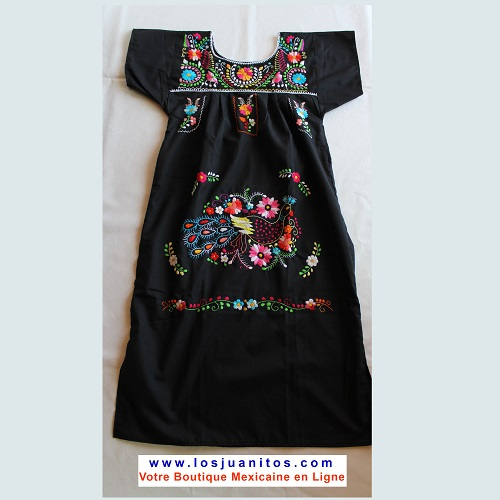 Robe Mexicaine - Taille S - Noire