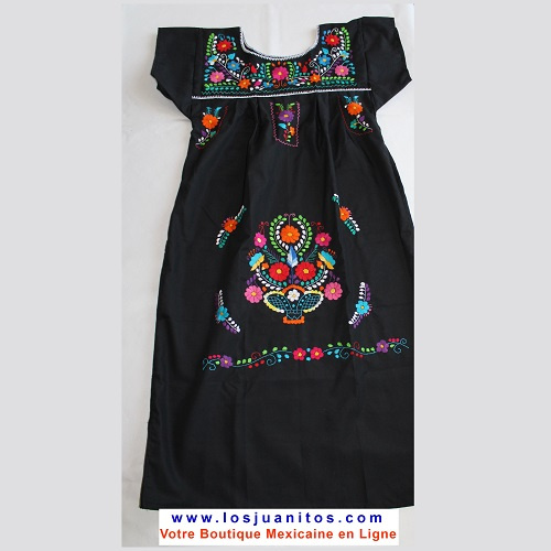 Robe Mexicaine - Taille S - Noire II