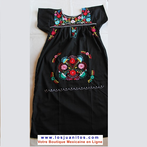 Robe Mexicaine - Taille S - Noire III