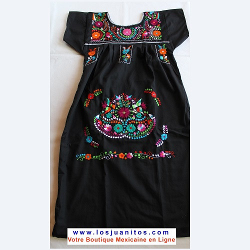 Robe Mexicaine - Taille S - Noire V