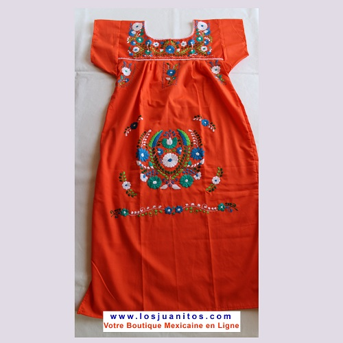 Robe Mexicaine - Taille S - Orange