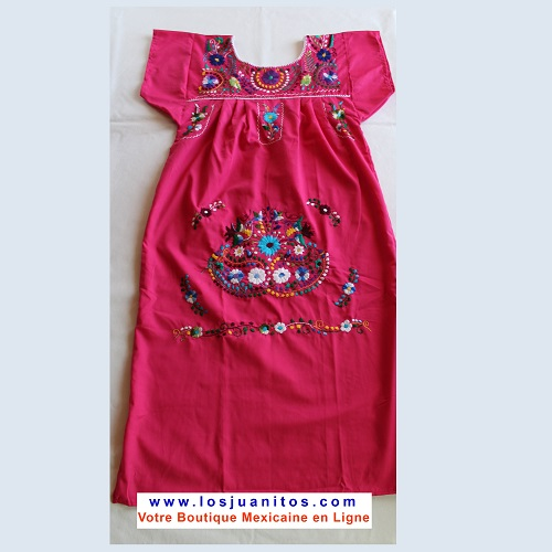 Robe Mexicaine - Taille S - Rose II
