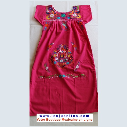 Robe Mexicaine - Taille S - Rose III