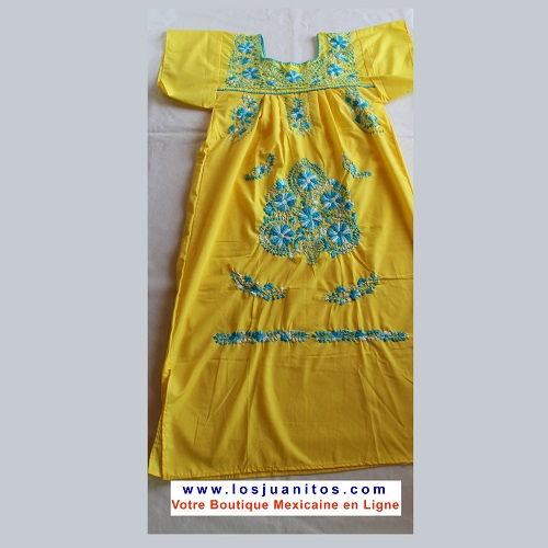 Robe Mexicaine - Taille S - Jaune III