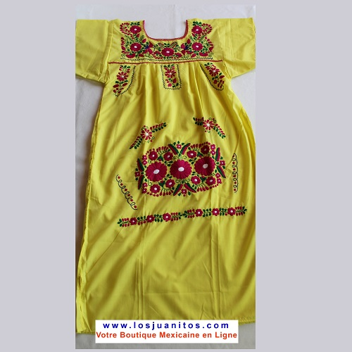 Robe Mexicaine - Taille L - Jaune