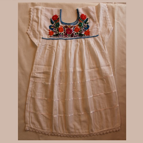 Robe Mexicaine - Taille 6 ans - Blanche