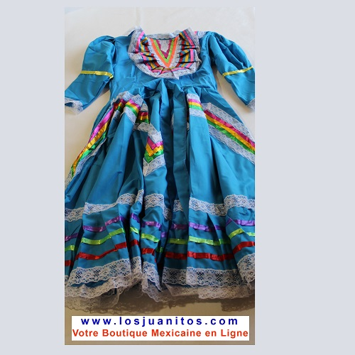 Robe Mexicaine - Jalisco - Bleue