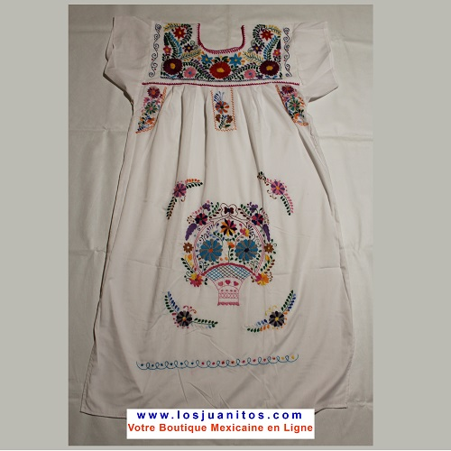 Robe Mexicaine - Taille XL - Blanche