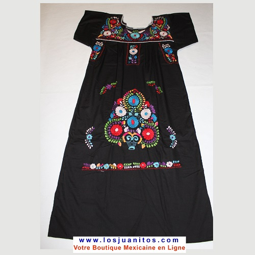 Robe Mexicaine - Taille M - Noire III