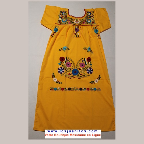Robe Mexicaine - Taille M - Jaune