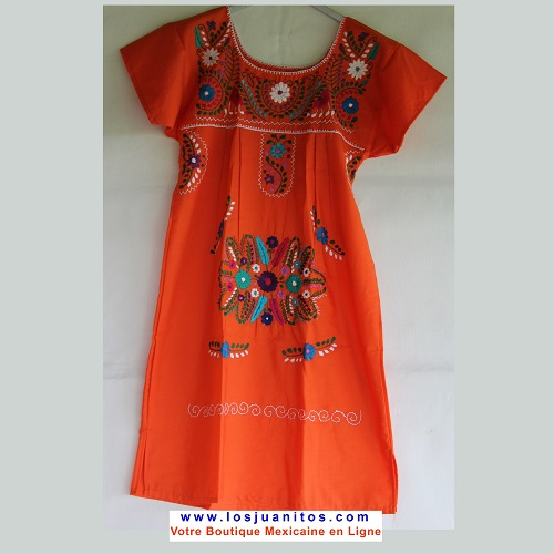 Mini Robe Mexicaine - Taille S - Orange