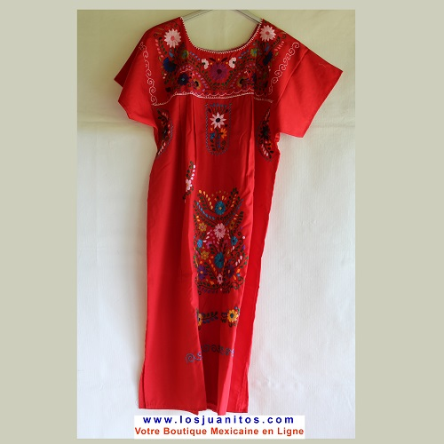 Robe Mexicaine - Taille L - Rouge