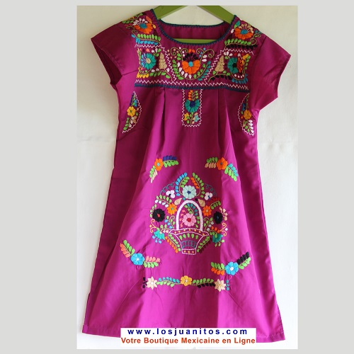 Robe Mexicaine - Taille 8 ans - Violette