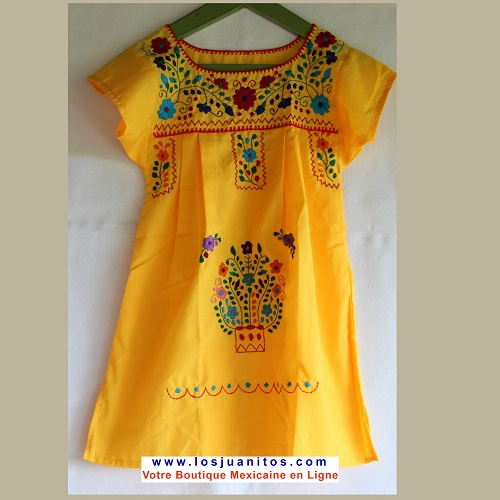 Robe Mexicaine - Taille 4 ans - Jaune