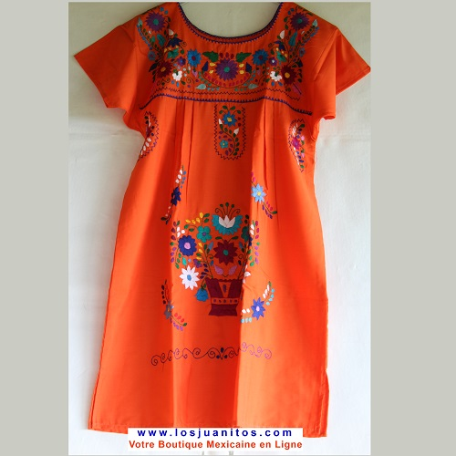 Mini Robe Mexicaine - Taille M - Orange II