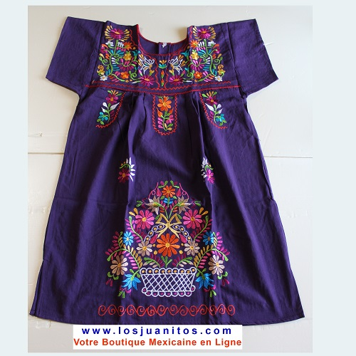 Mini Robe Mexicaine - Taille M - Violette