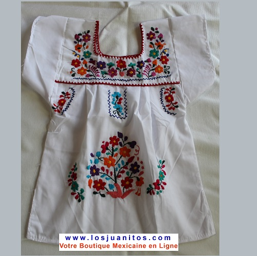 Robe Mexicaine - Taille 2 ans - Blanche