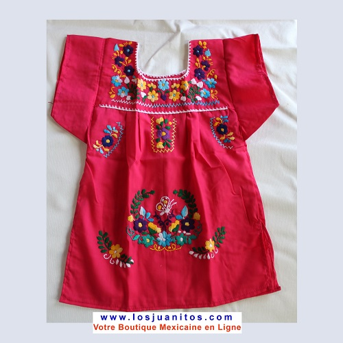 Robe Mexicaine - Taille 2 ans - Rose