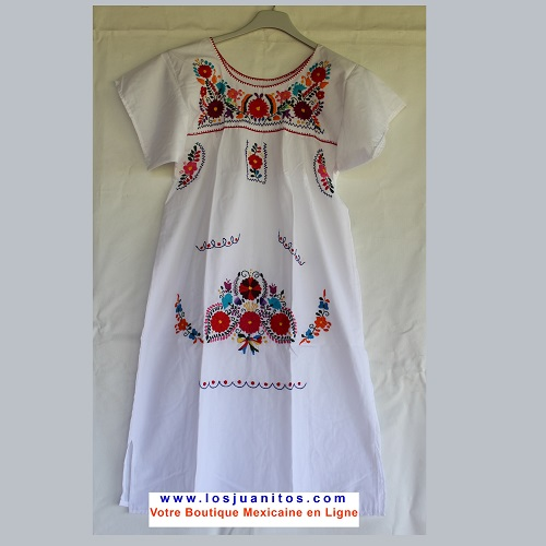 Robe Mexicaine - Taille XS - Blanche