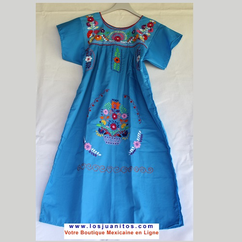 Robe Mexicaine - Taille XS - Bleue