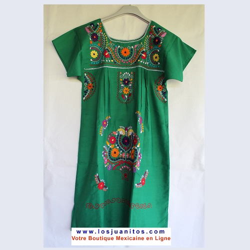 Robe Mexicaine - Taille XS - Verte