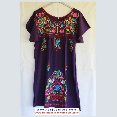 Mini Robe Mexicaine - Taille XL - Violette