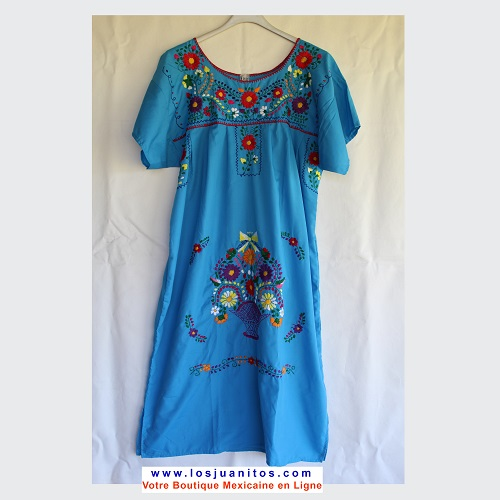 Robe Mexicaine - Taille XL - Bleue IV