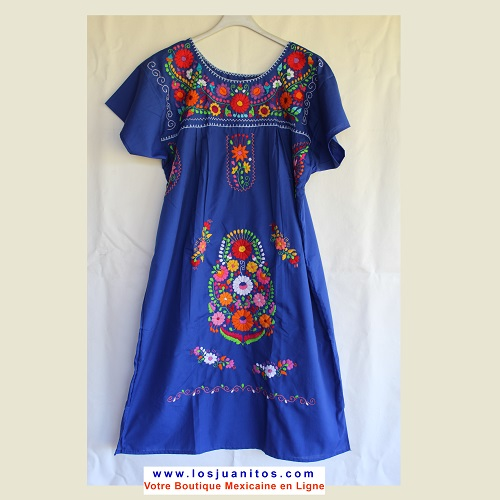 Robe Mexicaine - Taille XL - Bleue V