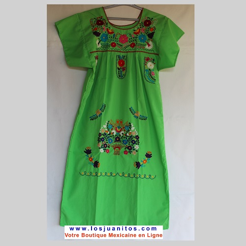 Robe Mexicaine - Taille S - Verte