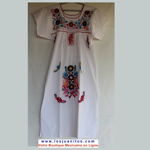 Robe Mexicaine - Taille S - Blanche