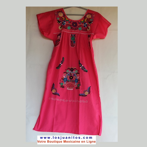 Robe Mexicaine - Taille S - Rose