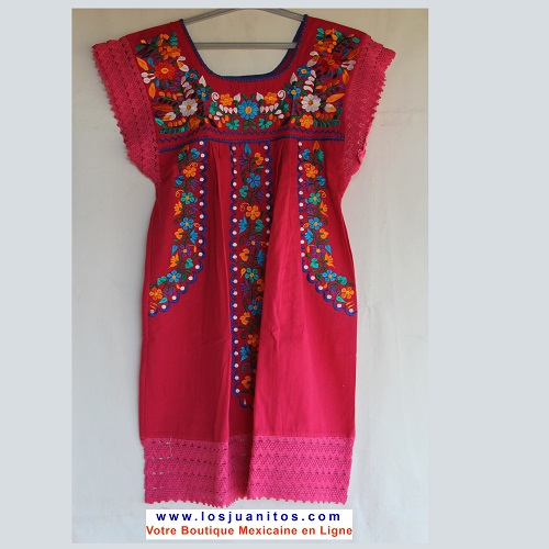 Mini Robe Mexicaine - Taille S - Rose