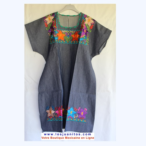 Robe Mexicaine - Taille XL - Denim