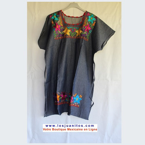 Robe Mexicaine - Taille XXL - Denim