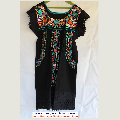 Mini Robe Mexicaine - Taille S - Noire