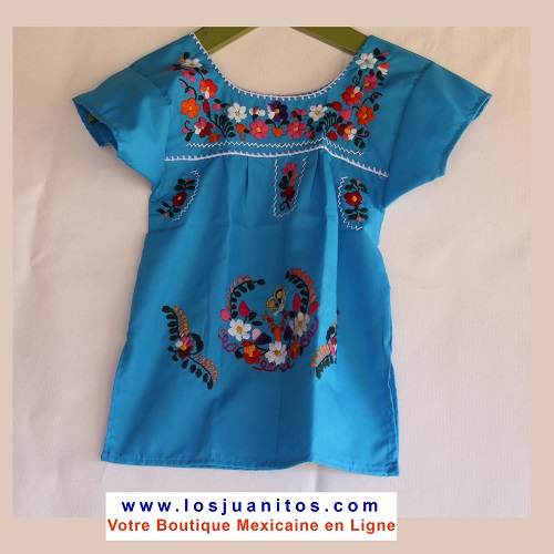 Robe Mexicaine - Taille 1 ans - Bleue