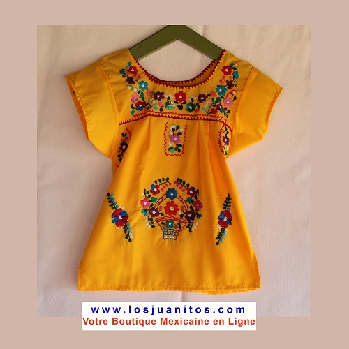 Robe Mexicaine - Taille 2 ans - Jaune
