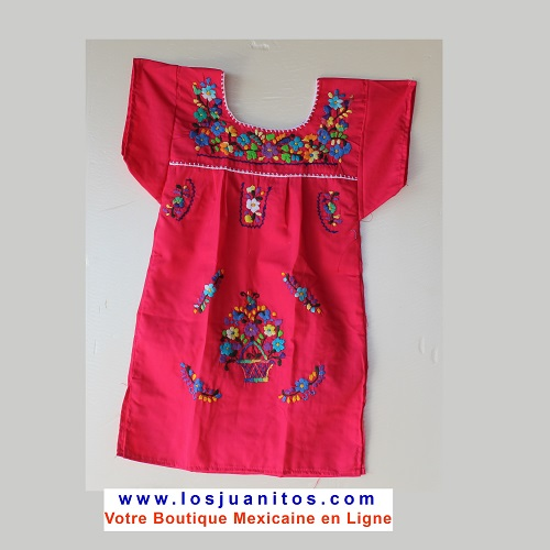 Robe Mexicaine - Taille 4 ans - Rose