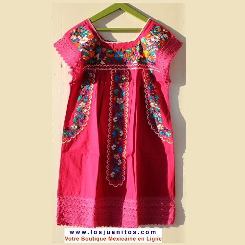Mini Robe Mexicaine - Taille XS - Rose